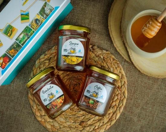 【配送サービス】天然100%の自然派食品・ベトナム特産品「非加熱 生はちみつ・ マカダミアナッツ」