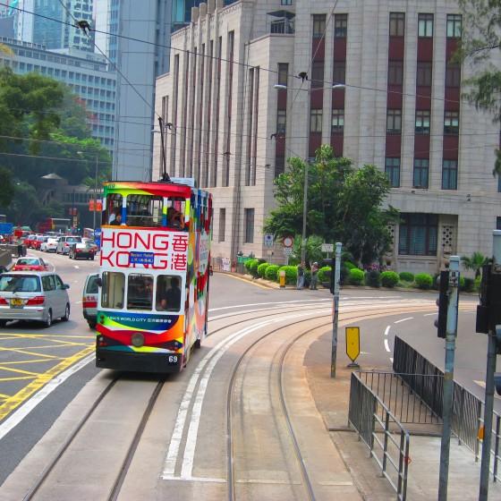 観光イメージ:2階建て路面トラム