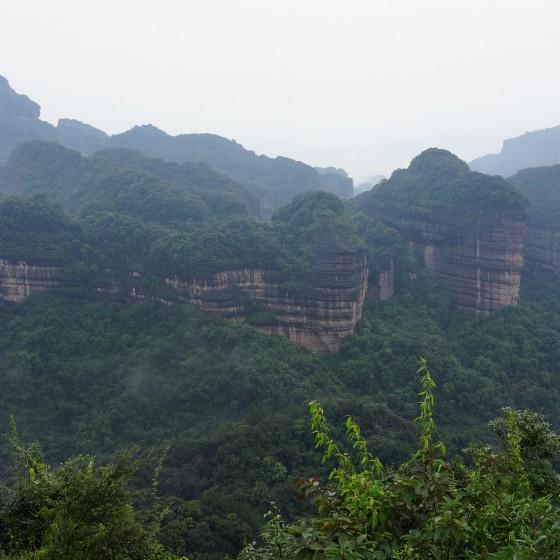 丹霞山 韶音亭からの眺め イメージ