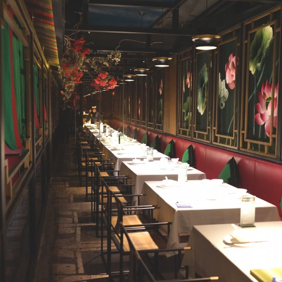 ランチレストラン「巴蜀風月」の店内のようす