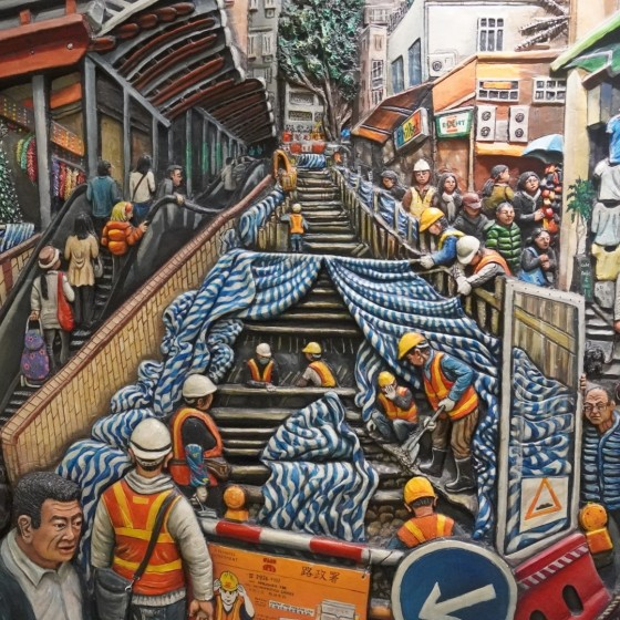 イメージ:西營盤MTR地下鉄駅内壁画