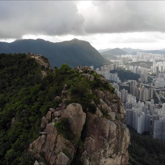 ライオンロックと香港の景観 イメージ