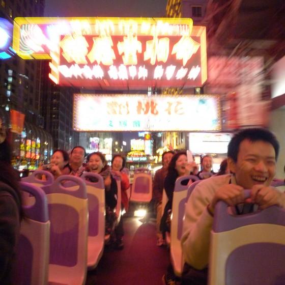 観光イメージ:パンダバスのオープントップバス