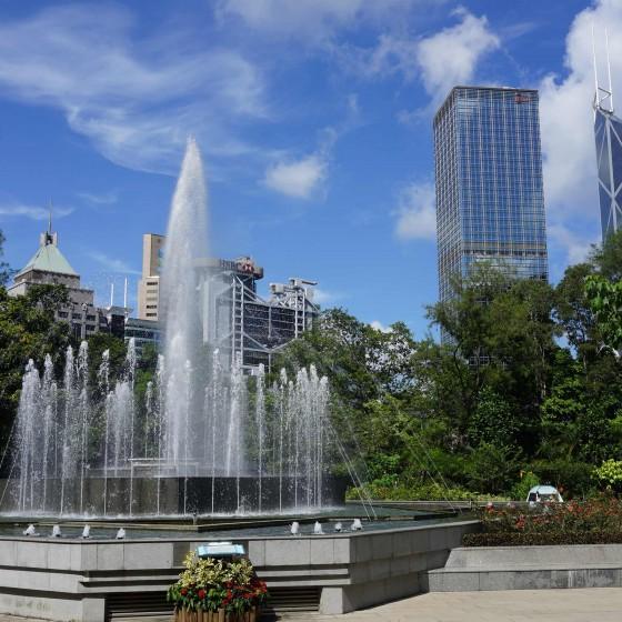 香港動植物公園 噴水テラス サンプル