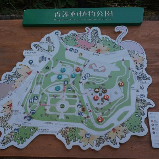 香港動植物公園 地図 サンプル