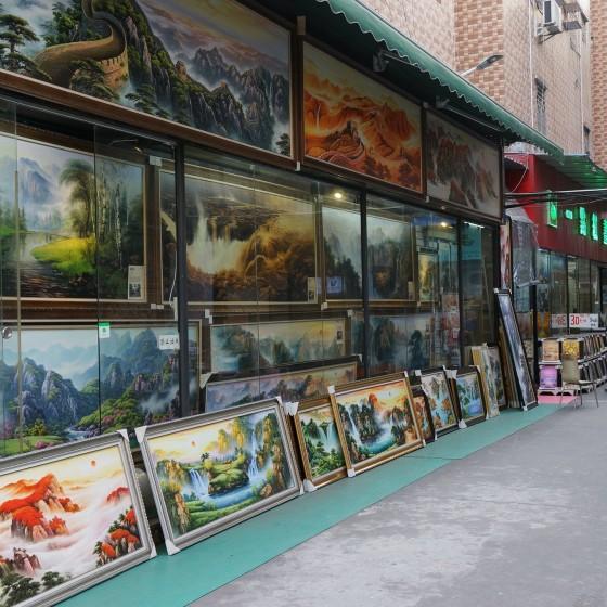 世界最大界規模の芸術村 大芬(ダーファン)油画村の一角