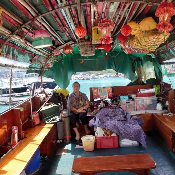 観光イメージ:アバディーンでのサンパン船乗船