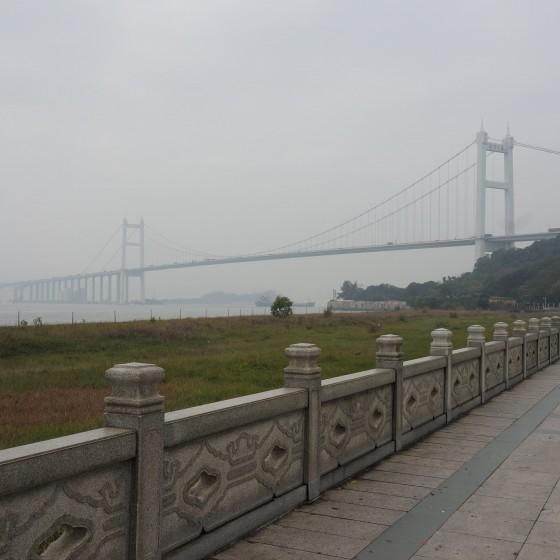 虎門 海戦博物館 虎門大橋に臨む遊歩道