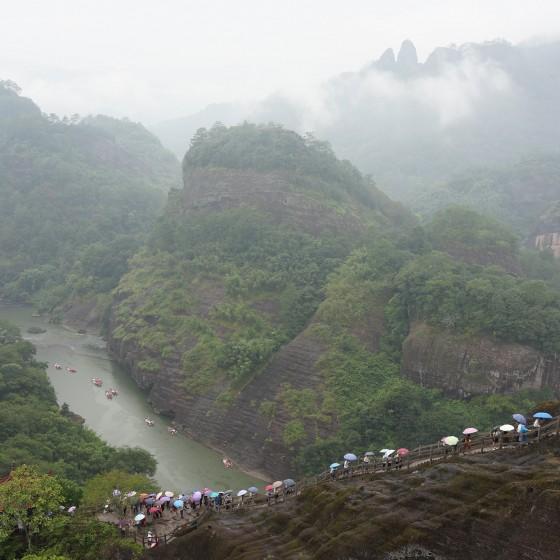 武夷山 天游峰からの眺望 イメージ
