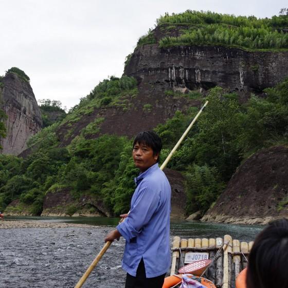 武夷山 九曲渓のいかだ下り イメージ