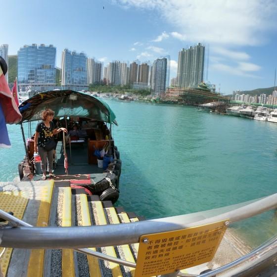 観光イメージ: サンパン船とアバディーンの景色