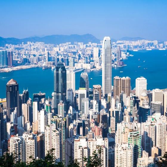 観光イメージ:香港のビル群