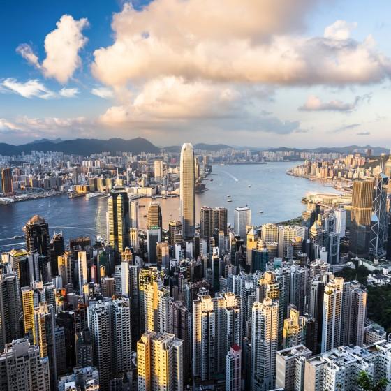 香港 ビクトリアハーバー両岸のイメージ