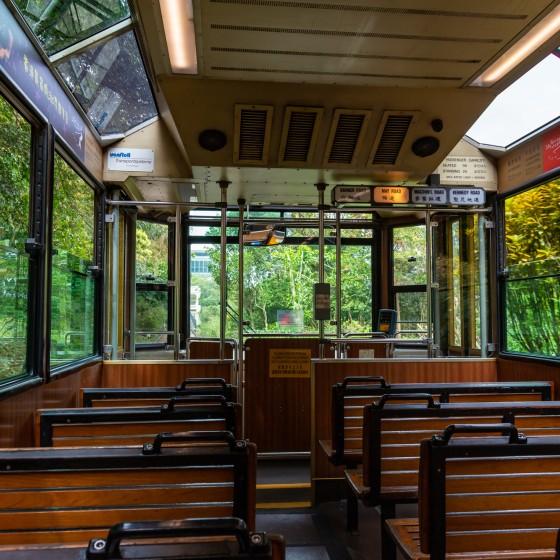 観光イメージ:ピークトラム車内