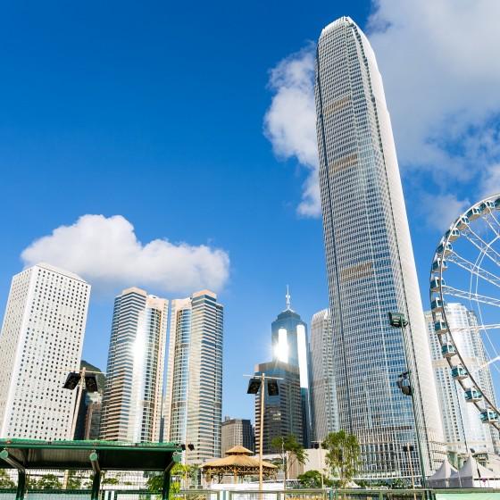 観光イメージ:香港島中環ビル群