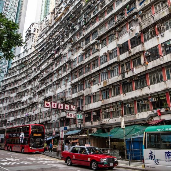 観光イメージ:香港島街並み
