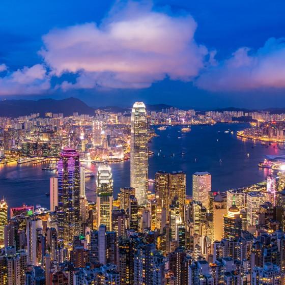 香港 ビクトリアハーバーと100万ドルの夜景