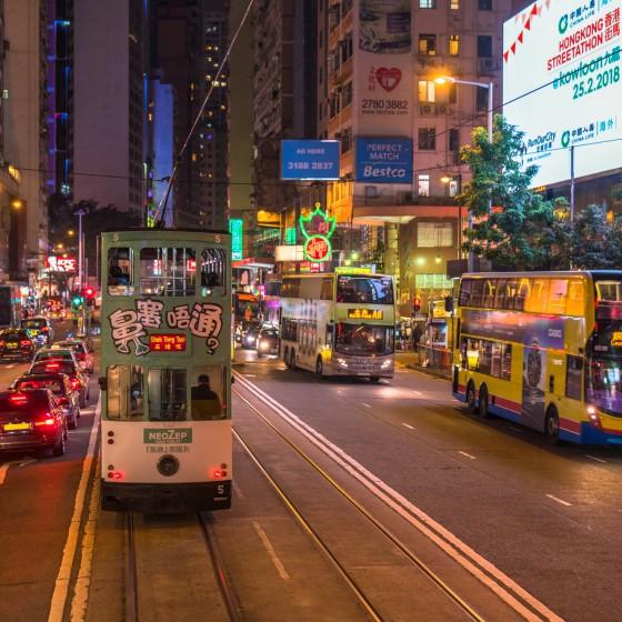 香港 香港島の夜の街並み イメージ