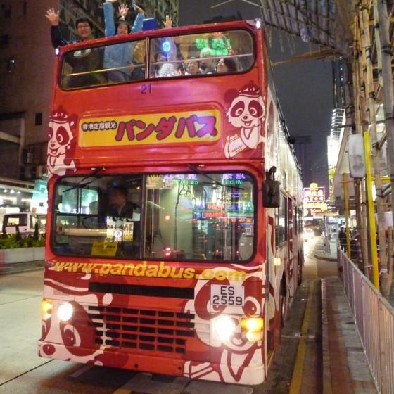 香港 パンダバス の オープントップバス イメージ