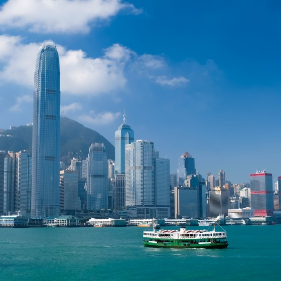 香港 街並み 香港島のビル群 イメージ