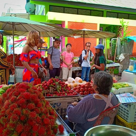 カオヤイ ローカル市場