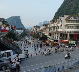 終着地・陽朔 到着  特徴的な山々に囲まれた陽朔西街を散策観光