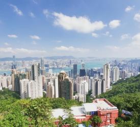 ビクトリアピークにて香港を一望!