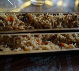 龍勝少数民族の郷土料理の昼食