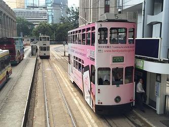 香港島のシンボル、2階建てトラムに乗車、移動
