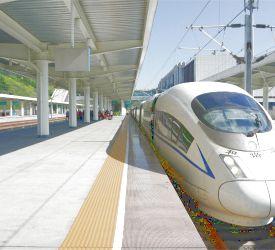 高速鉄道【G1601】にご乗車になり、深セン北駅へ向けて出発