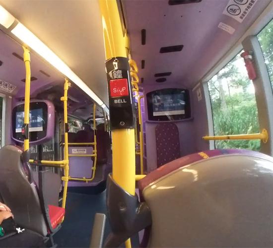 公共バスにてビクトリアピークへ