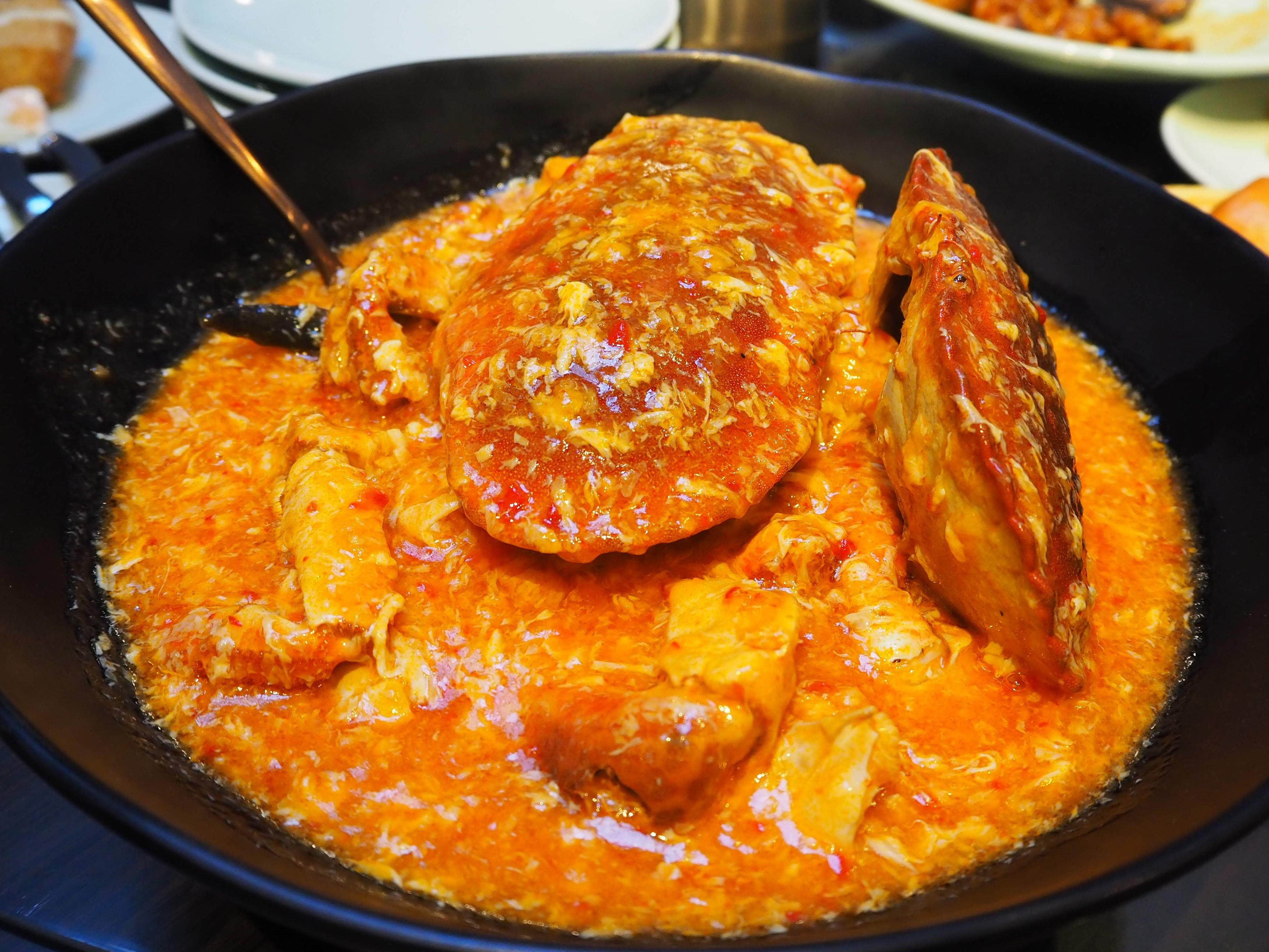 シンガポール名物!「チリクラブ」のご夕食