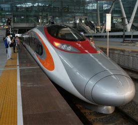 高速鉄道【G1008】⇒【D7467】にご乗車になり、開平南駅へ向けて出発