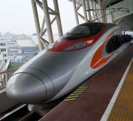 高速鉄道【G6182】にご乗車になり、韶関駅へ向けて出発