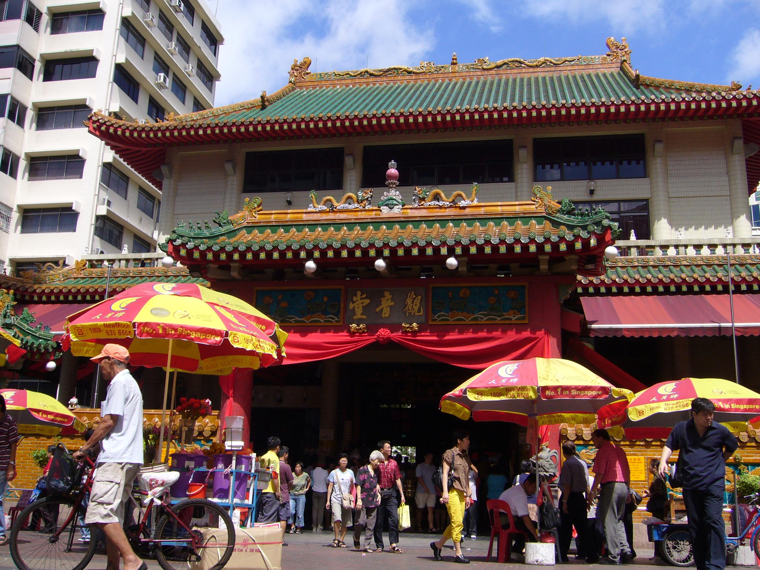 シンガポール最古の仏教寺院「観音堂」