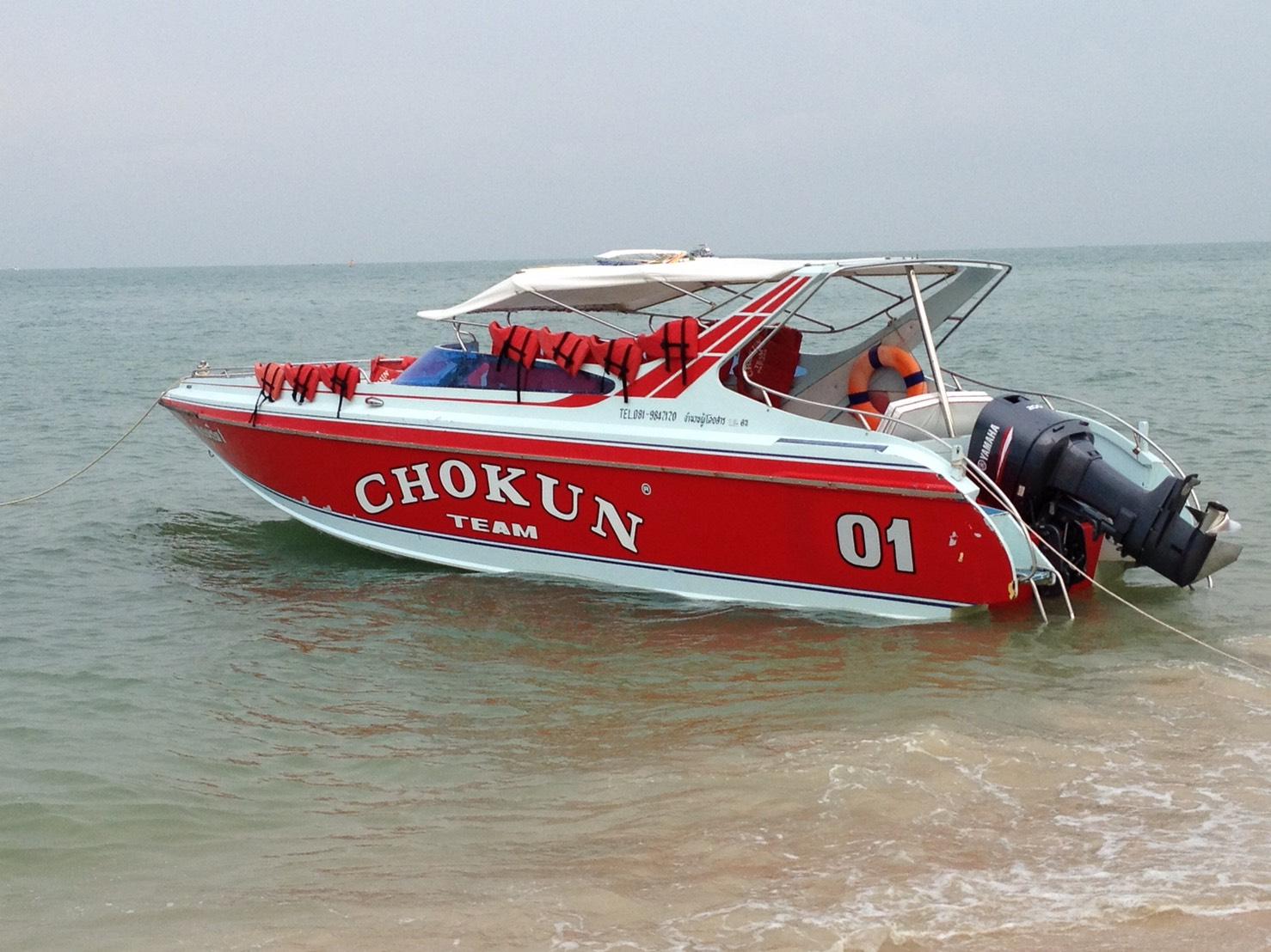 スピードボートに乗ってラン島へ