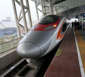 高速鉄道【G2281】⇒【D6260】にご乗車になり、広州南駅へ向けて出発