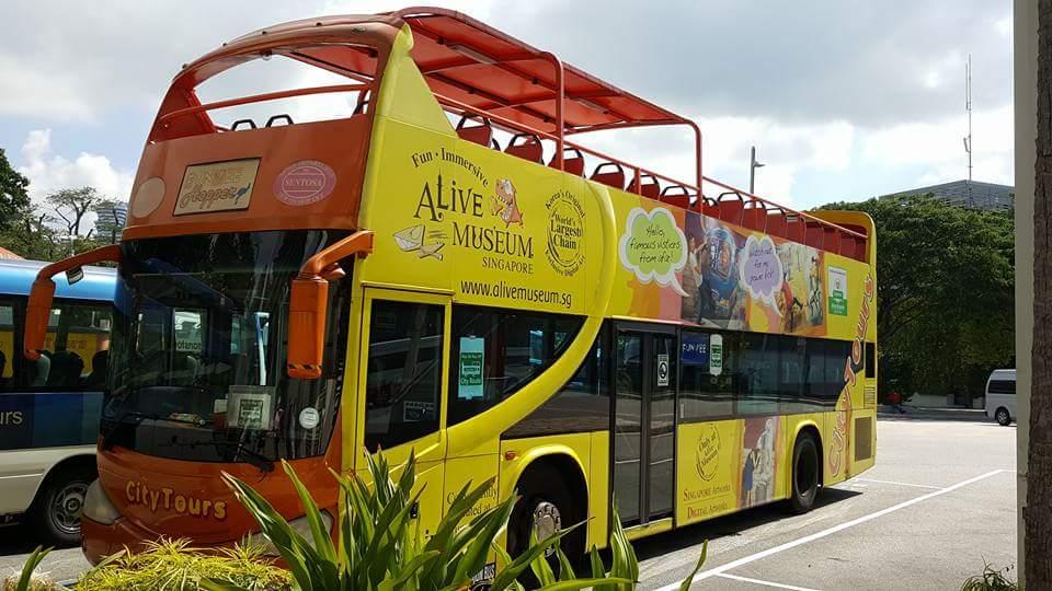 2階建てオープンバス乗車(約20分)