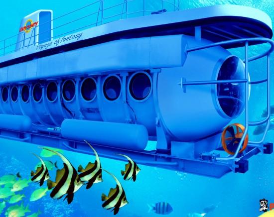 【バリ島】オデッセイサブマリン潜水艦で行く海底大冒険&BBQランチ