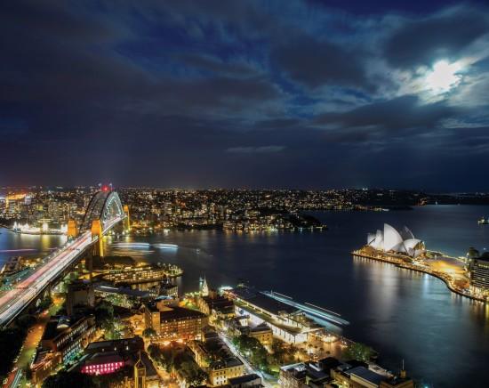シドニーナイトドライブ 世界三大美港のシドニー湾を眺め走り抜けます!<日本語ガイド/世界遺産/指定ホテル送迎>