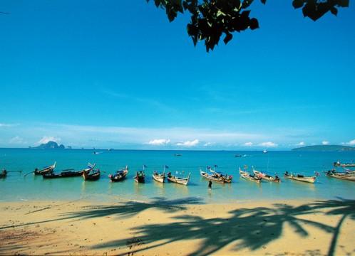 クラビ市内観光 2か所のビーチ+世界でも珍しい貝の化石層+寺院など<昼食付き/日本語ガイド/ホテル送迎>