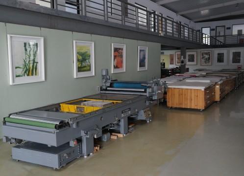 観澜版画村 大型の版画用機械 イメージ