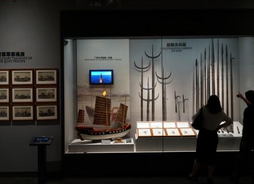 虎門 海戦博物館 館内 董事の武器の展示 イメージ