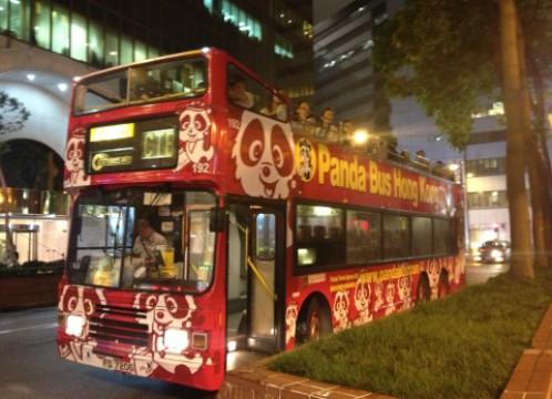 観光イメージ:パンダのオープントップバス