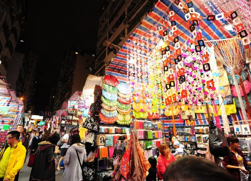 香港 夜の女人街のイメ―ジ