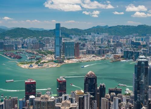 香港 香港島から九龍半島に臨むイメージ