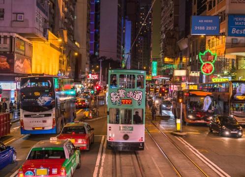 香港 香港島にて夜の街のイメージ