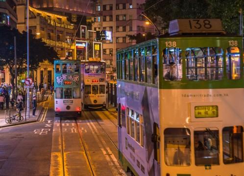 香港 夜の香港島の街のイメージ