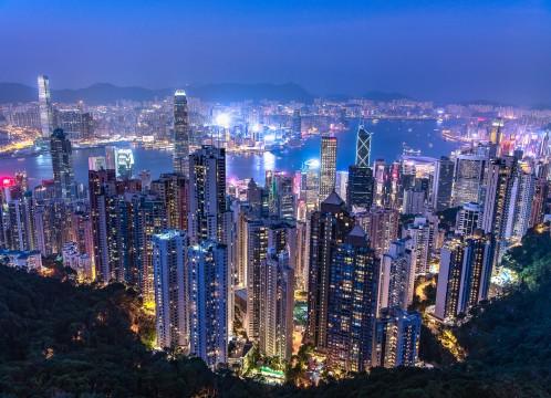 香港 ビクトリアハーバー100万ドルの夜景 イメージ