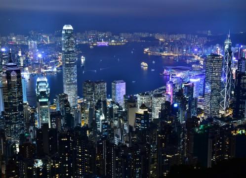 香港 100万ドルの夜景 イメ―ジ